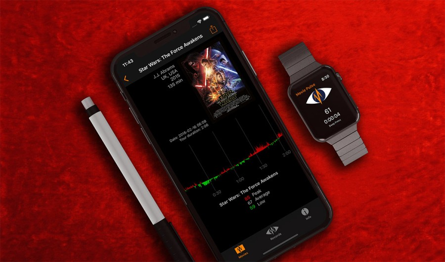 Movie Pulse at the iPhone X and Apple Watch